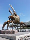 Большая скульптура краба Стоковое Изображение