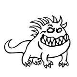 Большая собака от ада также вектор иллюстрации притяжки corel Стоковое Изображение