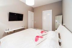 Большая современная спальня Стоковые Изображения RF
