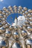 Большая статуя Будды на сыне Kaew Wat Phra Thart Pha стоковое изображение rf