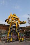 Большая статуя трансформаторов в Kaohsiung, Тайване Стоковое Фото