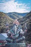 Большая статуя Ganesha и индусский бог, Таиланд, отростчатый цвет Стоковая Фотография RF