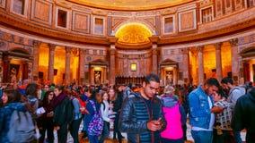 Большая туристическая достопримечательность в Риме - пантеон стоковое изображение rf