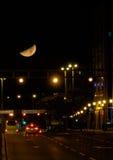 Большая луна в Загребе Стоковая Фотография RF