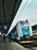 Большая часть, kraj Ustecky, чехия - 20-ое ноября 2016: Os 6833 пассажирского поезда положения Ceske компании drahy на вокзале Стоковые Фотографии RF