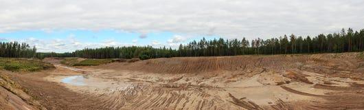 Большая яма песка Стоковое Изображение RF