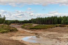 Большая яма песка Стоковые Фото
