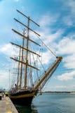 Большая яхта плавания Стоковые Изображения RF