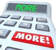 Больше калькулятора слова добавляя дополнительный бюджет дохода денег бонуса бесплатная иллюстрация