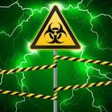 больше моего знака портфолио подписывает предупреждение биологическая опасность Ограженная опасная зона Штендер с знаком thunderb иллюстрация штока