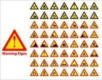 больше моего знака портфолио подписывает предупреждение Стоковое Фото