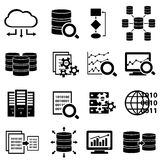 Большие данные и значки технологии Стоковое Фото
