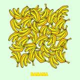 Большие бананы кучи Стоковое фото RF