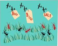 Большие большие знамена продаж Стоковые Фотографии RF