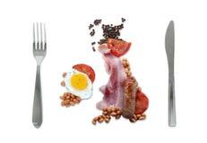 Большие британцы жарят вверх, английский завтрак стоковое изображение rf