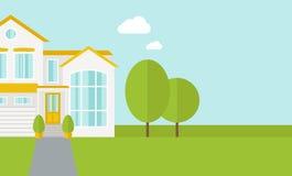 большие валы дома Стоковое Фото