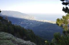 Большие взгляды от вершины горы Стоковое Изображение