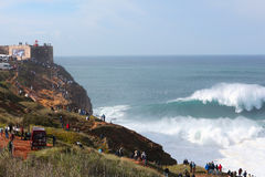 Большие волны @ Nazaré 2016 10 24 Стоковые Изображения RF
