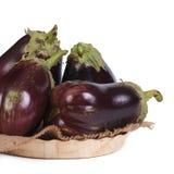 Большие все aubergines в шаре изолированном на белизне Стоковое Изображение RF
