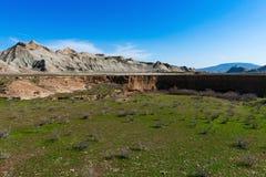 большие горы горы ландшафта каньон Стоковое Изображение