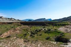 большие горы горы ландшафта каньон Стоковые Изображения