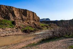 большие горы горы ландшафта Река Стоковая Фотография RF