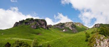 большие горы горы ландшафта Северный Кавказ, южная Россия Стоковая Фотография RF