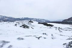 большие горы горы ландшафта Стоковая Фотография