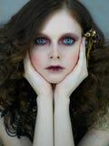 большие голубые глазы Стоковые Изображения