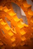 Большие желтые цепные колеса Стоковые Изображения RF