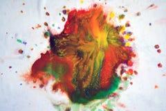Большие заплаты пятнают помарки цветов смешанных выплеском Стоковое Изображение