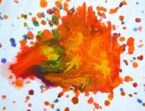 Большие заплаты пятнают помарки цветов смешанных выплеском Стоковое Изображение RF