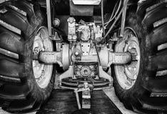 Большие задние автошины трактора Стоковая Фотография