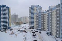 Большие здания в дворе города Стоковые Изображения