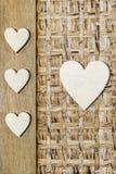 Большие и малые сердца Стоковое Фото