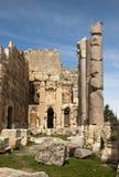 Большие камни и столбцы, Баальбек, Ливан Стоковая Фотография