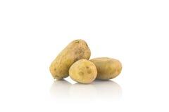 Большие картошки на белизне Стоковые Изображения