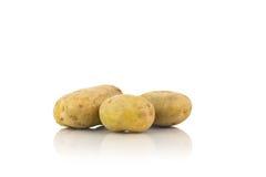 Большие картошки на белизне Стоковое Изображение
