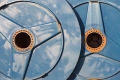Большие катышкы металла с отверстием для вала привода Стоковое Изображение