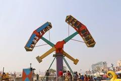 Большие качания/гигантские катят внутри Surajkund Стоковые Фотографии RF