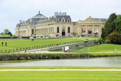 Большие конюшни замка de Chantilly, Франции стоковое изображение
