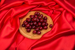 Большие красные темные вишни Стоковое Фото