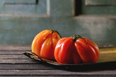 Большие красные томаты RAF Стоковое фото RF