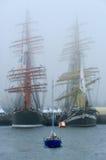 Большие парусники в порте Стоковое Изображение RF