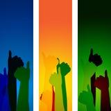 Большие пальцы руки вверх показывают все право и согласование Стоковое Изображение