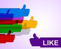 Большие пальцы руки вверх показывают все право и утверждение Стоковые Изображения