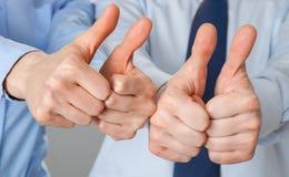 Большие пальцы руки вверх для успеха! Стоковое Изображение