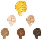 Большие пальцы руки вниз вручают emoji знака бесплатная иллюстрация