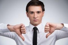 Большие пальцы руки вниз Стоковая Фотография RF