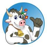 Большие пальцы руки коровы вверх Стоковая Фотография RF